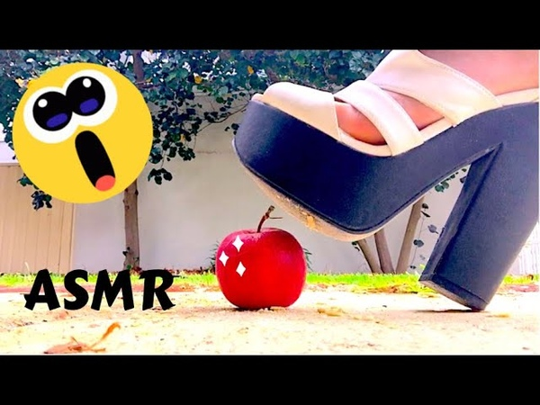 ASMR Crushing Random Things With Feet 5 - Heels Addition