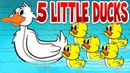 Five Little Ducks - Spring Songs for Children with Lyrics - Kids Songs by The Learning Station