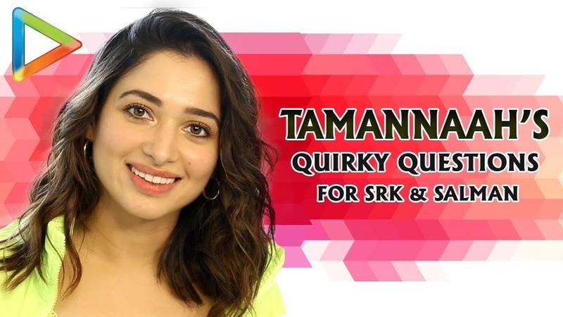 Tamannaah's Rapid Fire Funny Questions for SRK Salman Prabhas Jacqueline's Fitness Khamoshi