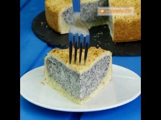 Немецкий маковый пирог с творогом!