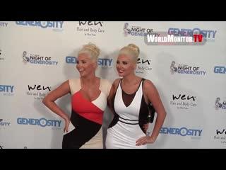 Karissa Shannon, Kristina Shannon arrive at 2013 Night Of Generosity Charity Ben