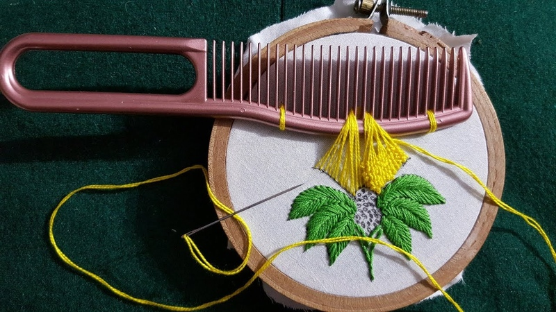 Amazing Hair Comb Trick Hand Embroidery Design 100 Beautiful cushion Flower