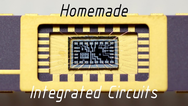 Homemade Silicon ICs Computer Chips