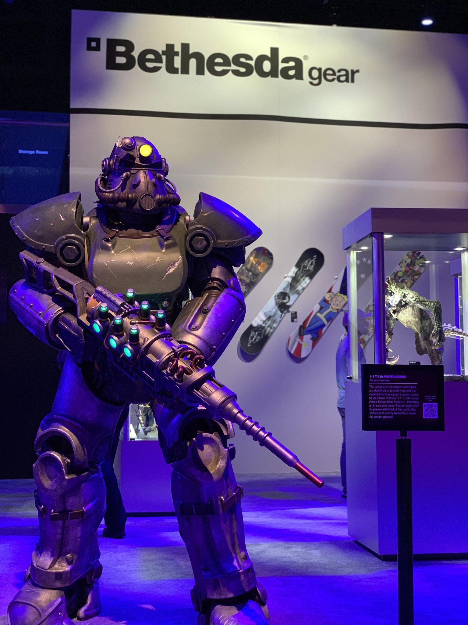 Немного фотографий со стенда Bethesda на E32019