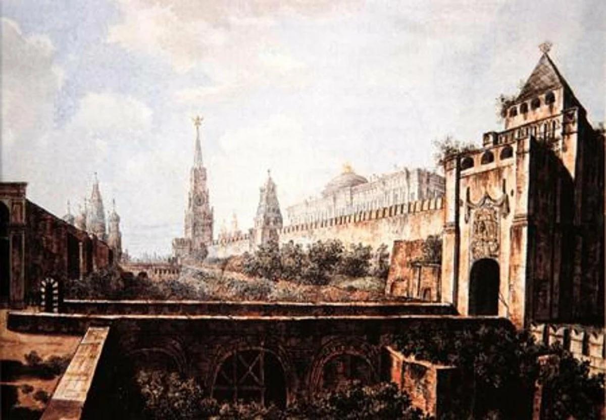 Допожарная Москва 1800-х на картинах питерца Федора Алексеева