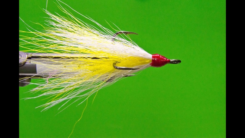 Tying the Yellow and White Dressed Bucktail Treble Hooks