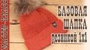 Базовая шапка резинкой 1 х 1 Как закрыть макушку Мастер класс Шапка спицами Drops NEPAL