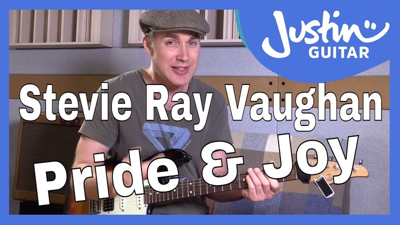 How to play Pride And Joy by Stevie Ray Vaughan Guitar Lesson Tutorial Texas Blues Riff Shuffle