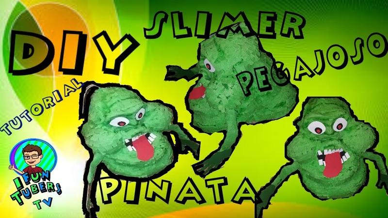 DIY Slimer Ghostbusters Pinata Como hacer una Pinata de Pegajoso Casafantasmas
