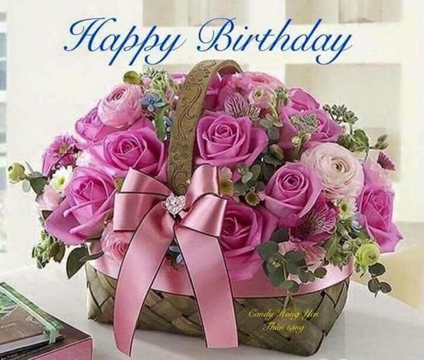 Открытка с днем рождения девушке цветы в коробке, рождения настя