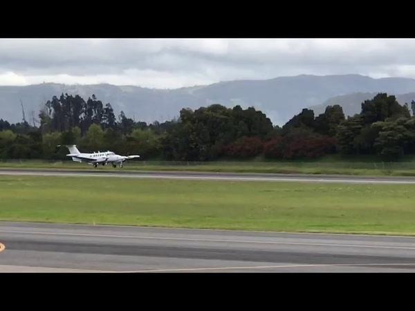 Incidente en una de las pistas del aeropuerto El Dorado de Bogotá