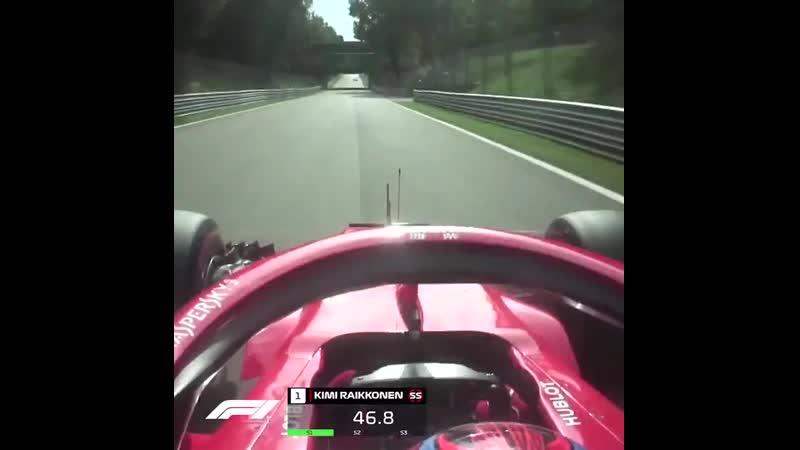Italy 2018: Kimi Raikkonen's pole lap