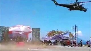 Навоенном параде вИндонезии вертолет снес трибуны. Новости. Первый канал