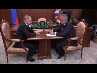 Владимир Путин проводит встречу с Сергеем Шойгу по поводу пожара на глубоководном научно-исследовательском аппарате