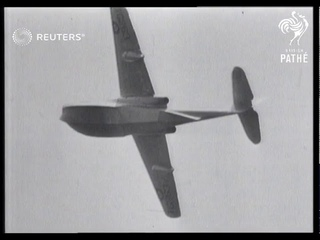 Royal Air Force Test flight of a Saunders-Roe SR.A/1, the new fighter aircraft (1947)