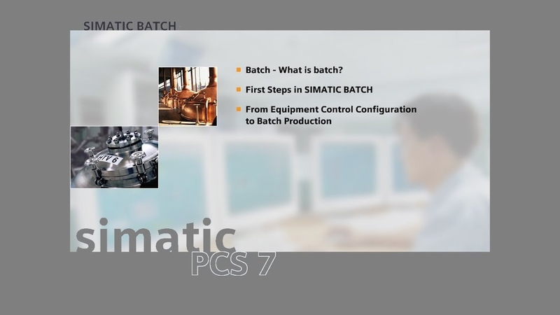 16 - SIMATIC BATCH - Control of a Running Batch