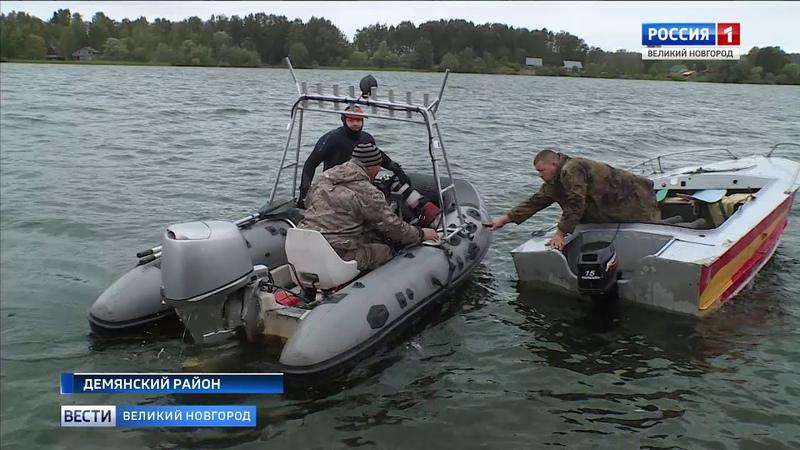ГТРК СЛАВИЯ Подъем останков красноармейцев на озере Велье 19 08 19