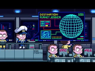 Rick and morty pirate space morty