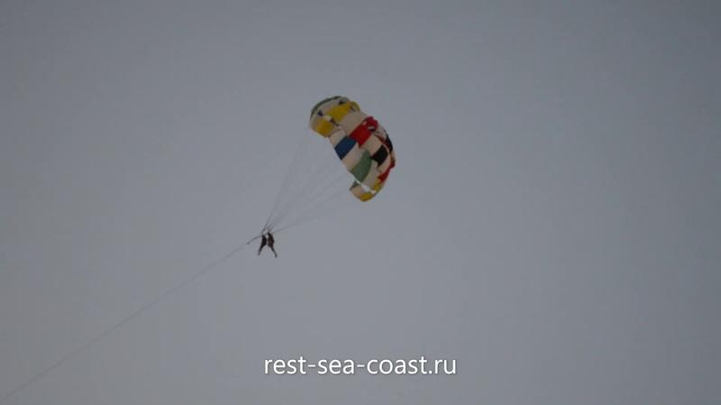 Полёт на парашюте над морем в Голубицкой2