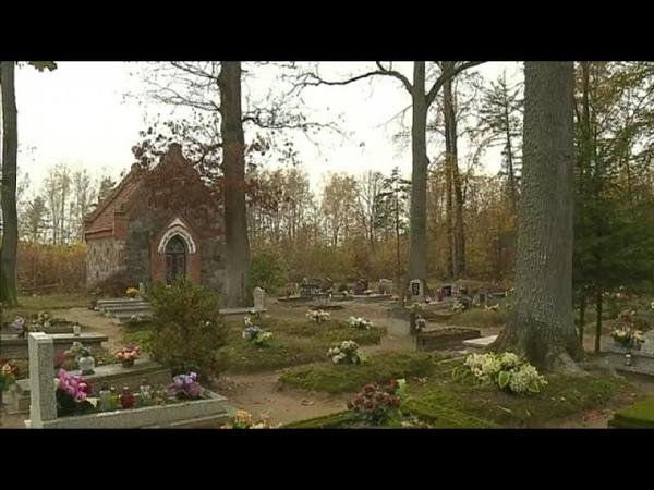 Польские лесничьи прибирают прусские могилы