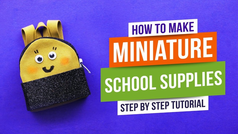 How to Make Miniature School Supplies DIY Miniature Art Video Tutorial 92 Crafts