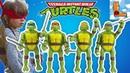 Четыре черепашки ниндзя! Раф, Донни, Мики и Лео! Лука Босс открывает игрушки черепашки ниндзя!