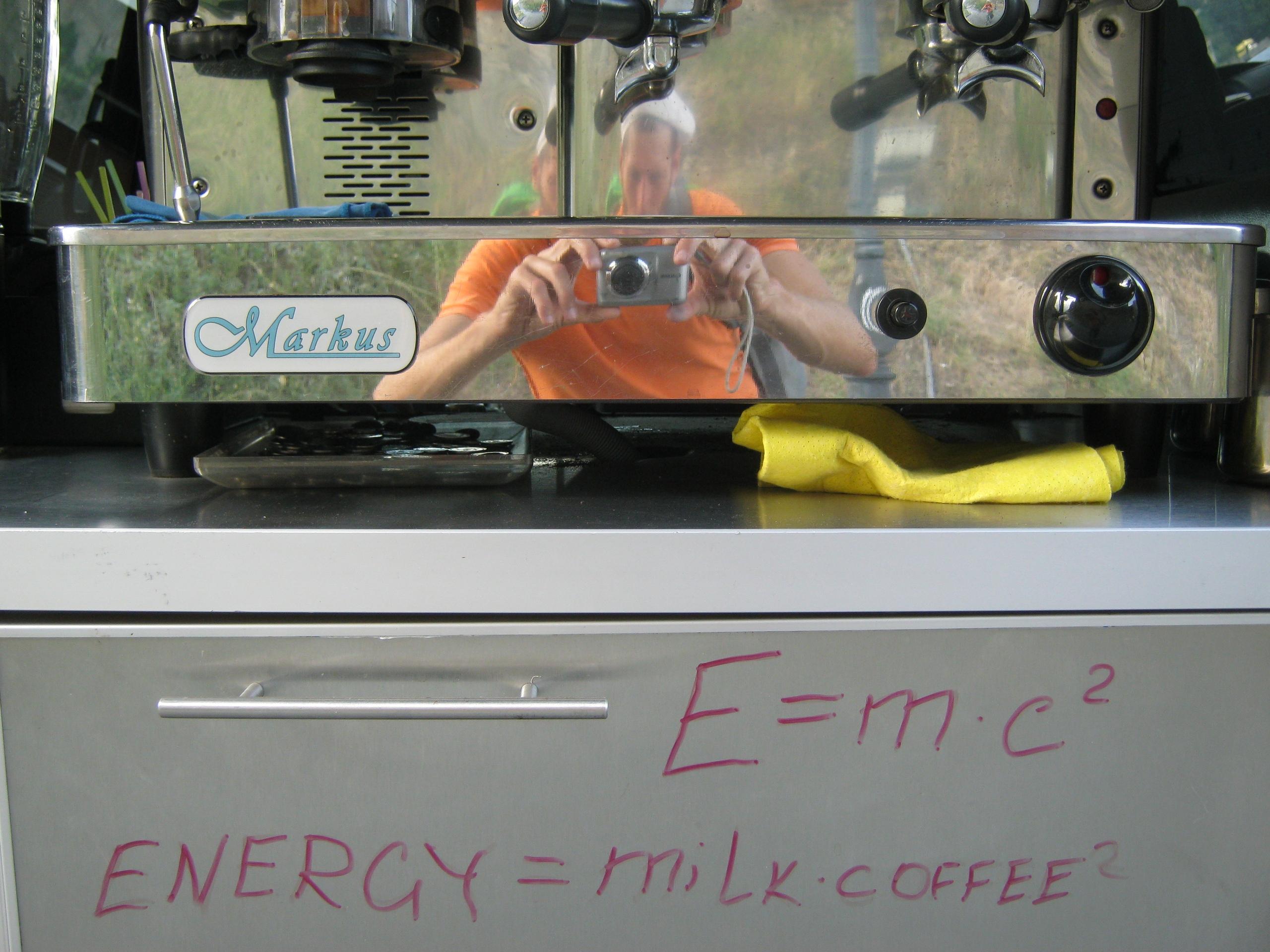 """""""Энергия = Молоко умноженное на Кофе в квадрате"""""""