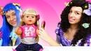 Видео с куклами Беби Бон – Новая причёска для Принцесс Дисней! – Весёлые игры для девочек.