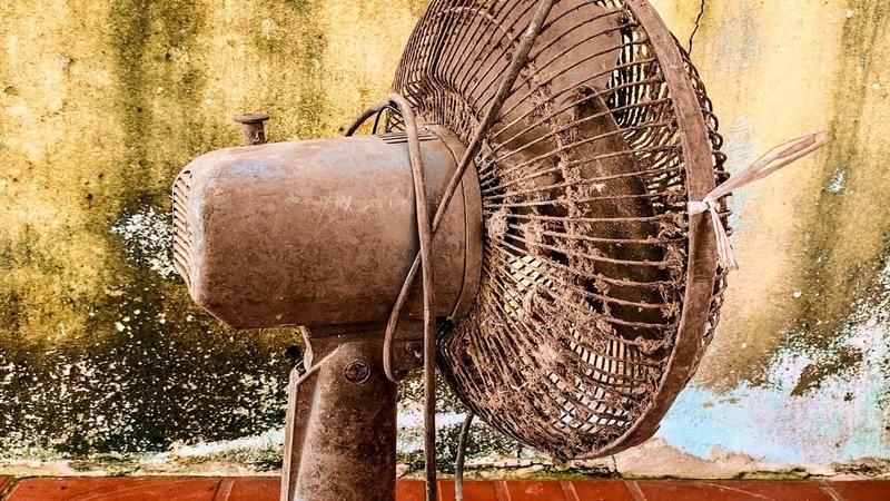 Restoration Old rusty table fan Restore electric fan