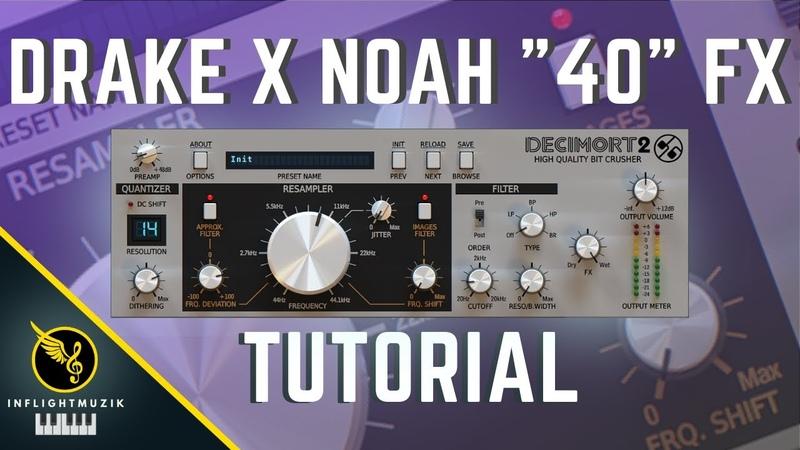How To Mix Beats Like Noah 40 Shabib for Drake Decimort 2 Tutorial