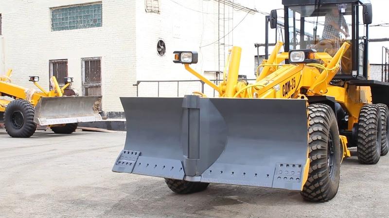Путепрокладочное оборудование на габаритной версии автогрейдера СДМ-25
