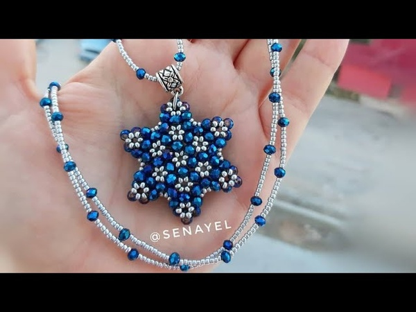 Yıldız Model Cevşen Kolye Yapımı || Star Necklace Making Tutorial