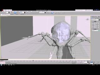 Анимация 3d max черновая paukan