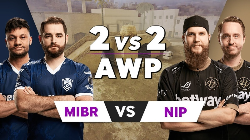 NiP f0rest and GeT RiGhT vs MiBR FalleN and fer AWP 2vs2