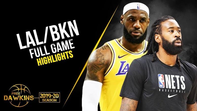 Los Angeles Lakers vs Brooklyn Nets Full Game Highlights | October 12, 2019 | FreeDawkins