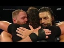 Seth Rawlins and Roman Rains cry after Dean Ambrose exit 😢 - Last game So Shield in Wrestling Free