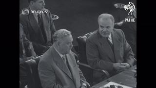 SWITZERLAND: MEETING OF THE BIG FOUR IN GENEVA (1955)
