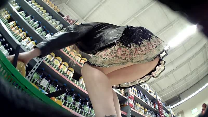 Milf upskirted filling her shopping basket no porn yes