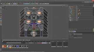 Make a Factorio Sprite-Sheet with Cinema4D - 03 - more Modelling + Colors + Animation