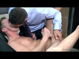 2GUYSPS4HUNG - HOT Arab Fucks Delivery guy in sling - free gay video by