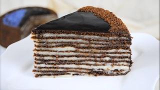 Шоколадный торт СПАРТАК / Вкусный рецепт шоколадного Медовика с заварным кремом 🎂🌟