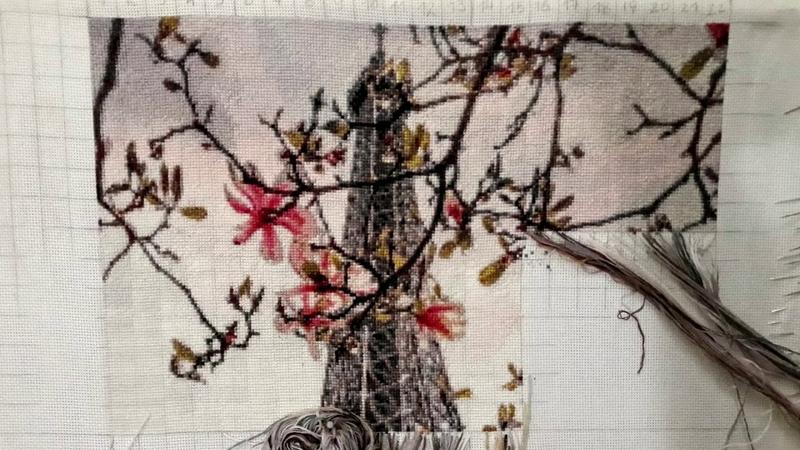 Весенний Париж - отшив схемы ХИМЕРЫ