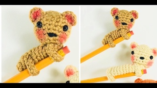 Accesorios a crochet para lapices /kawaii amigurumi pencil topper/back to school pencil accessories.