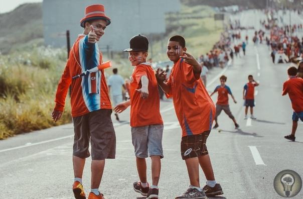 ПУТЕШЕСТВИЯ НАЧИНАЮТСЯ ЗДЕСЬ: КОСТА-РИКА. Ч.-2 1. Танцоры в традиционной одежде цвета национального флага во время парада на День независимости 2. Оцелот небольшой, до 100140 см в длину, кот.