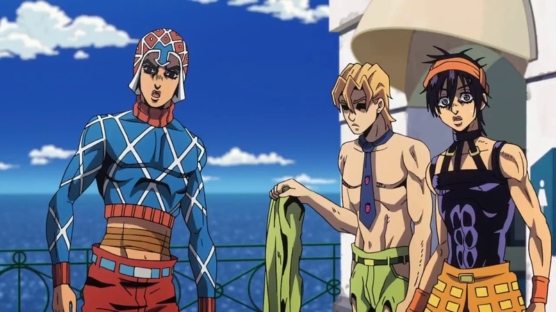 Fugo gets angry and throws his shirt