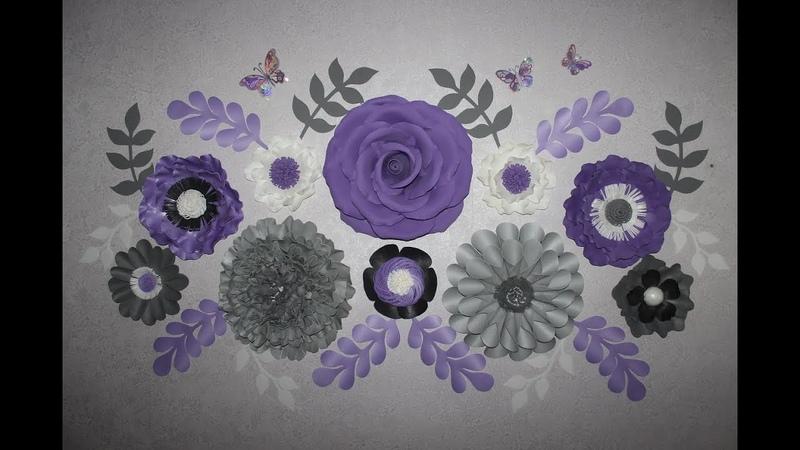 Настенные цветы из изолона и фоамирана Крепление к стене Flowers from isolone