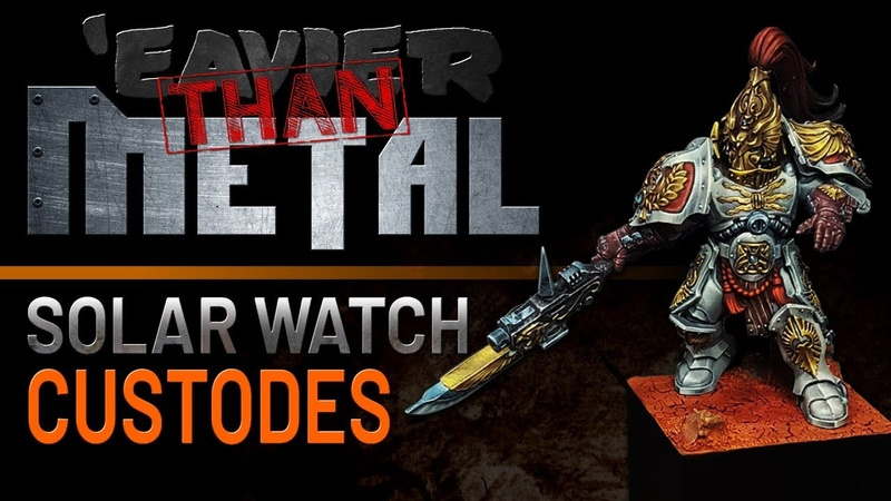'Eavier than Metal Painting a Solar Watch Custodes