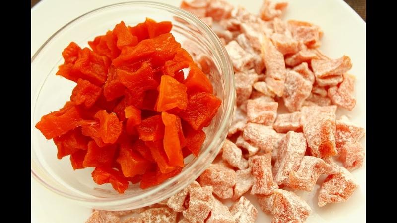 Цукаты из тыквы в духовке Нереально вкусно 💕Полезные конфеты Candied pumpkin natural candy