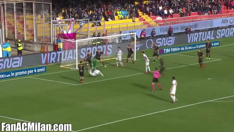15 тур Беневенто 2-2 Милан (03.12.2017)