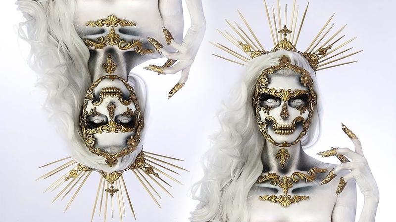The Haunting Of Versailles 💀 HALLOWEEN Skull Makeup Tutorial Simple Symphony ♡